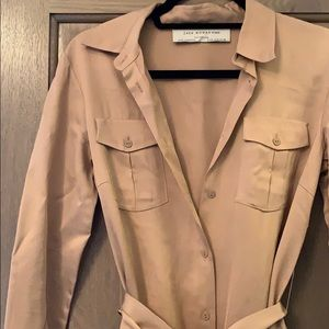 Zara Dresses - Chic silk like shirtdress